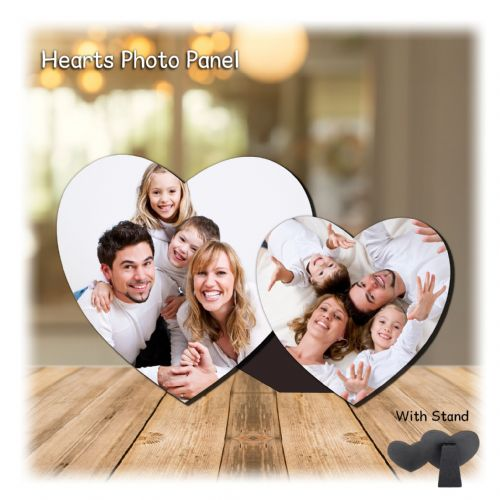 Personalised MDF Hearts Photo Wood Panel Print N1